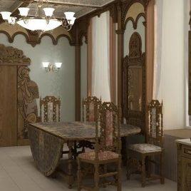 Древнерусский стиль мебели