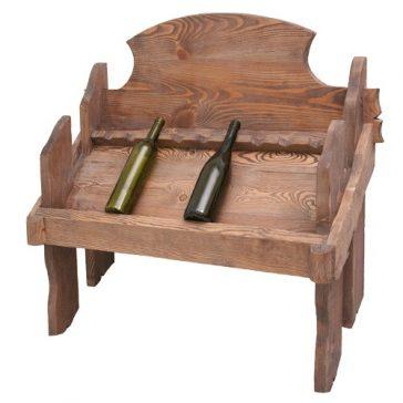 Полка для вина под старину №13