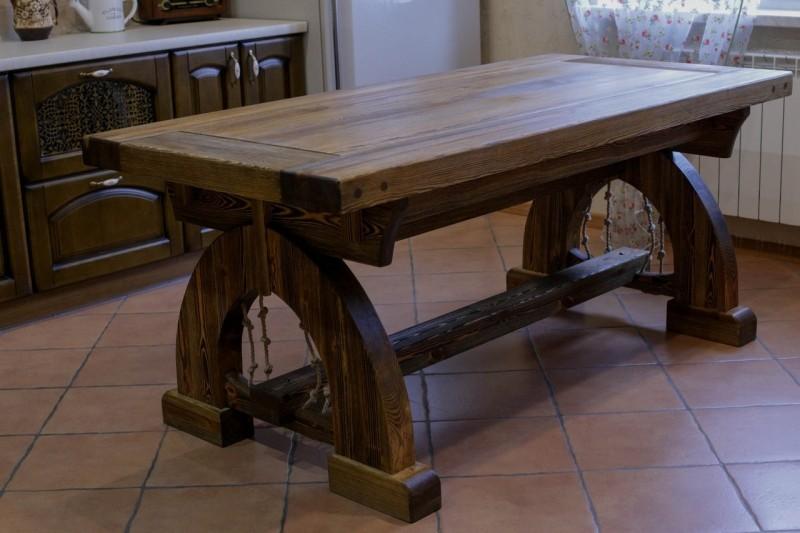 Деревянные столы под старину фото