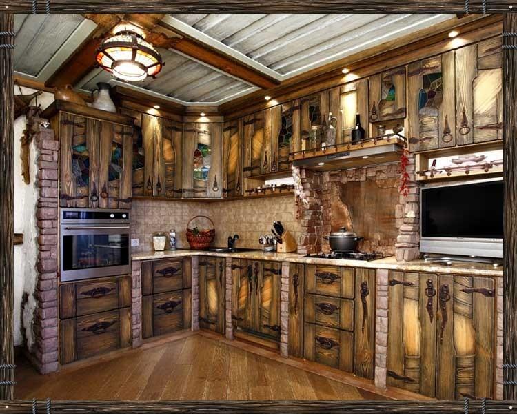 Кухня под старину из массива