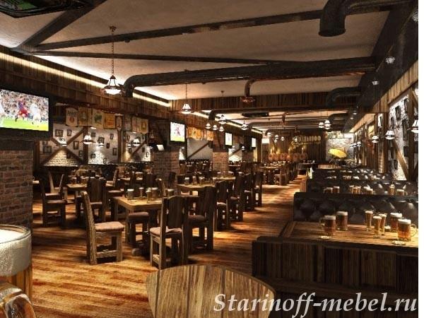 Ресторанная мебель под старину индивидуально под Ваше заведение