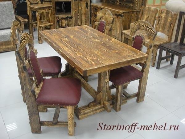 деревянные столы под старину из массива