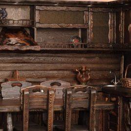 Виды мебели под старину из массива сосны